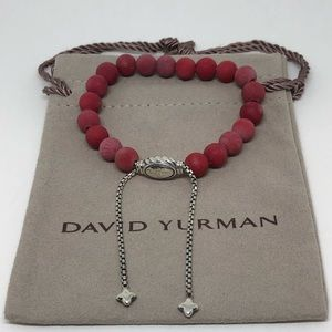 David Yurman Spiritual Bead Bracelet Red Carnelian
